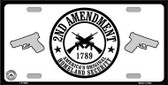 2nd Amendment Metal Novelty License Plate
