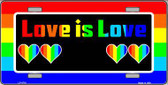 Love Is Love Metal Novelty License Plate LP-4718