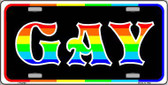 Gay Metal Novelty License Plate LP-4743