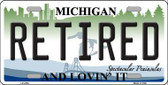 Retired Michigan State Metal Novelty License Plate LP-4754