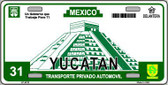 Yucatan Mexico Novelty Background Metal License Plate LP-4818