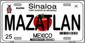 Mazatlan Mexico Novelty Background Metal License Plate LP-4824