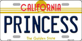 Princess California Novelty Metal License Plate LP-4882