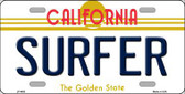 Surfer California Novelty Metal License Plate LP-4885