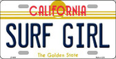 Surf Girl California Novelty Metal License Plate LP-4886
