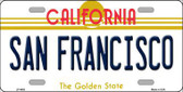 San Francisco California Novelty Metal License Plate LP-4888