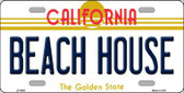Beach House California Novelty Metal License Plate LP-4890