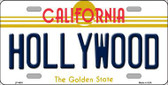 Hollywood California Novelty Metal License Plate LP-4891