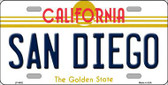 San Diego California Novelty Metal License Plate LP-4892