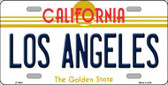 Los Angeles California Novelty State Background Metal License Plate