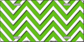 Kelly Green White Chevron Metal Novelty License Plate LP-5028