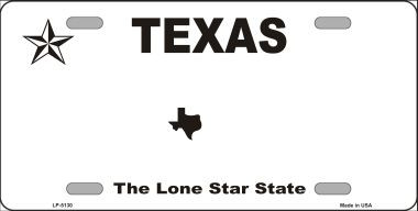texas novelty state background blank metal license plate. Black Bedroom Furniture Sets. Home Design Ideas