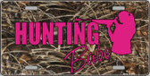 Hunting Babe Metal Novelty License Plate LP-5262