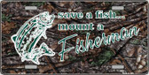 Save A Fish Metal Novelty License Plate LP-5274