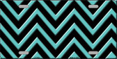 Tiffany Blue Chevron Metal Novelty License Plate LP-5424