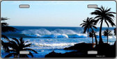 Ocean Wave Metal Novelty License Plate LP-543