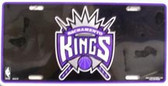 Sacramento Kings Metal Novelty License Plate