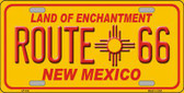 Route 66 New Mexico Novelty Metal License Plate