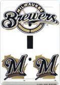 Milwaukee Brewers MLB Metal Novelty Light Switch Cover Plate