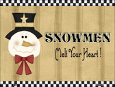 Snowmen Melt Your Heart Metal Novelty Parking Sign P-198