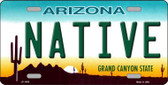Native Arizona Novelty Metal License Plate