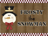 Frosty Snowman Metal Novelty Parking Sign P-201