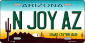 N Joy Arizona Novelty Metal License Plate