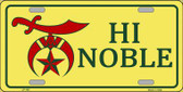 High Noble Novelty Metal License Plate