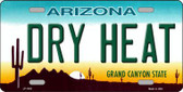 Dry Heat Arizona Novelty Metal License Plate