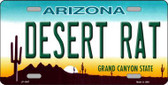 Desert Rat Arizona Novelty Metal License Plate