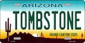 Tombstone Arizona Novelty Metal License Plate