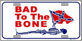 Bad To The Bone Novelty Metal License Plate LP-1127