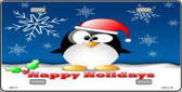 Happy Holidays Penguin Metal Novelty License Plate XMAS-07