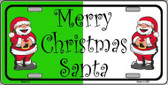 Green Red Santa Metal Novelty License Plate XMAS-14
