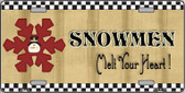 Snowflake Snowmen Melt Your Heart Metal Novelty License Plate XMAS-18