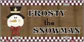 Frosty The Snowman Metal Novelty License Plate XMAS-20