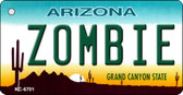 Zombies Arizona Mini License Plate Metal Key Chain