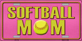 Softball Mom Novelty Metal License Plate