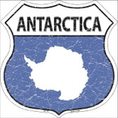 Antarctica Country Flag Highway Shield Metal Sign