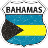 Bahamas Country Flag Highway Shield Metal Sign