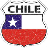 Chili Country Flag Highway Shield Metal Sign
