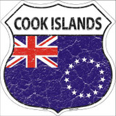 Cook Islands Country Flag Highway Shield Metal Sign