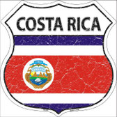 Costa Rica Country Flag Highway Shield Metal Sign