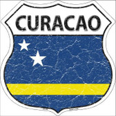 Curacao Country Flag Highway Shield Metal Sign