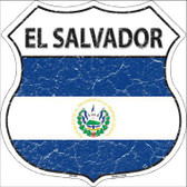 El Salvador Country Flag Highway Shield Metal Sign