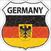 Germany Country Flag Highway Shield Metal Sign