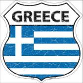 Greece Country Flag Highway Shield Metal Sign