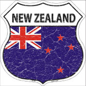 New Zealand Country Flag Highway Shield Metal Sign