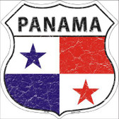 Panama Country Flag Highway Shield Metal Sign