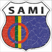 Sami Country Flag Highway Shield Metal Sign